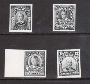 Newfoundland #109P #110P #111P #113P XF Proofs In Black