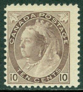EDW1949SELL : CANADA 1898 Scott #83 Mint OG VLH. PO Fresh stamp. Catalog $425+