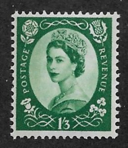 1956 Great Britain 332 Queen Elizabeth 1sh3p MNH WM308
