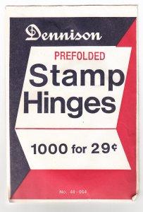 Dennison Prefolded Stamp Hinges, Unopened (S18901)