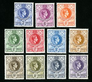 Swaziland Stamps # 27-37 VF OG Hinged Catalog Value $53.05