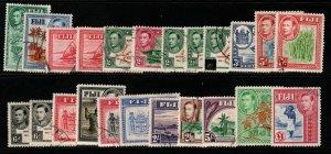 FIJI SG249/66b 1938-55 DEFINITIVE SET FINE USED