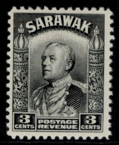 SARAWAK GV SG108, 3c black, M MINT.