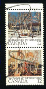 Can #734a   pair    used VF 1977 PD
