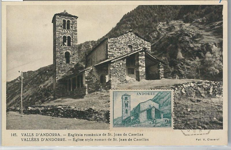 59144  -  ANDORRA - POSTAL HISTORY: MAXIMUM CARD  - ARCHITECTURE