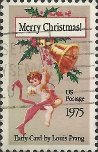 # 1580 USED CHRISTMAS CARD BY LOUIS PRANG