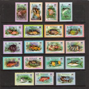 FISH - TUVALU #O1-19  MNH  (SEE NOTE)