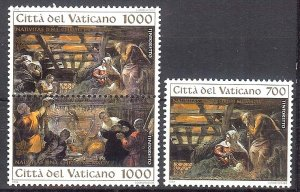 1994 - Vatican Sc# 968-970  - Mint VF/NH