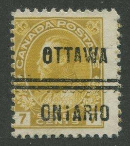CANADA PRECANCEL OTTAWA 1-113