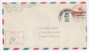 WWII Censored Cover APO 846 Fort Buchanan Puerto Rico 1945