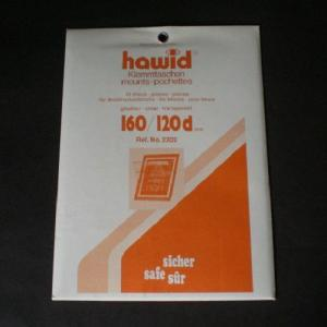 Hawid Stamp Mounts Size 160 / 120d CLEAR Background Pack of 10
