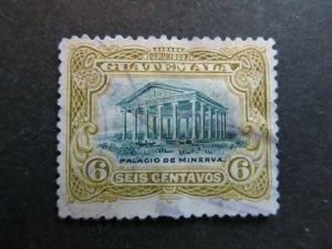 A4P10F27 Guatemala 1902 6c used