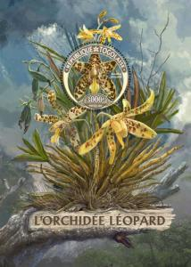 TOGO 2016 SHEET WWF LEOPARD ORCHIDS ORCHIDEES FLOWERS FLEURS WILDLIFE tg16423b