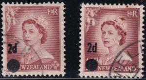 New Zealand 1958 SC 319-320 Used