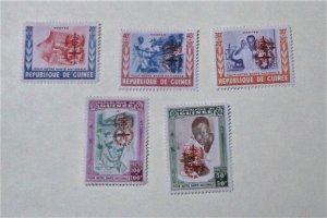 Guinea - B25-29, MNH Set. WHO Drive Malaria OVPT. SCV - $5.40