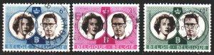Belgium. 1960. 1228-30. Royal couple of Belgium. USED.