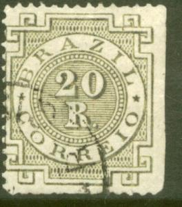 Brazil 87a, 20r Numeral. Used. (153)