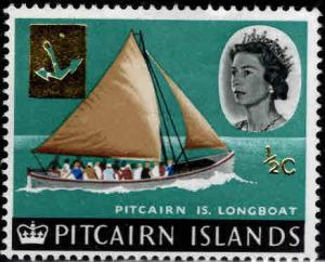 Pitcairn Islands Scott 72 MH*  surcharged longboat