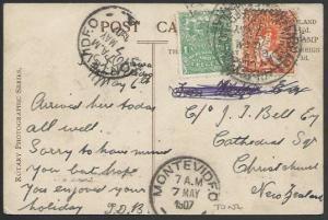 URUGUAY 1904 postcard used to New Zealand..................................11184