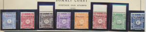 Somali Coast (Djibouti) Stamps Scott #J21 To J28, Mint Never Hinged - Free U....