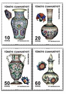 TURKEY - OFFICIAL POSTAGE STAMPS ABOUT GLAZED TILES, MNH, 2016