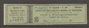 Spain Revenue fiscal stamp Medical and Legal 6 Stamps 6 scans- scarce stamps
