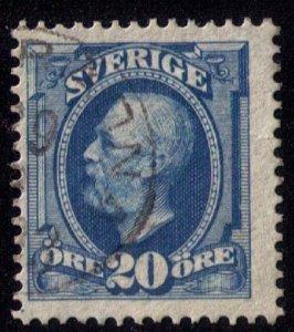 SWEDEN Sc #60 20o Blue King Oscar II Used Fine