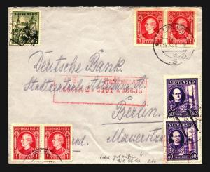 Slovakia 1938 Cover / Early WWII - Z14164