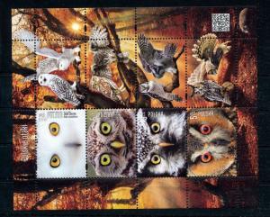 POLAND 2017 Owls Birds Wildlife Sheet MNH (you 591s)