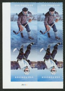 #5253b History of Ice Hockey, Plate Blk [P1111 LL], Mint **ANY 4=FREE SHIPPING**