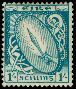 IRELAND SG82, 1s Light Blue, M MINT. Cat £16.