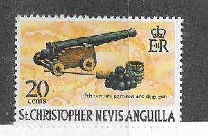St Christopher.Nevis.Anguilla #216 Cannon  (MNH) CV$0.45