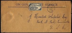 BRUNEI 1926 Official cover to USA via Labuan & Singapore...................18502