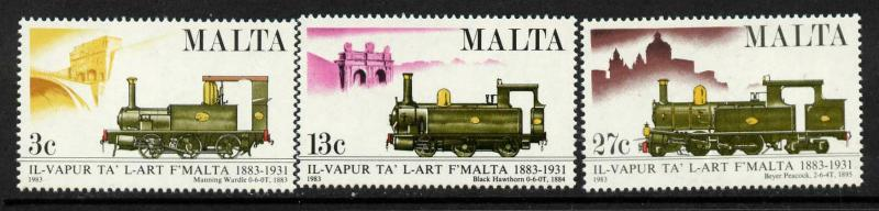 Malta 620-2 MNH Trains, Locomotives
