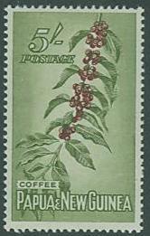 Papua New Guinea SC#146 Coffee Tree, 5 shillings, MH