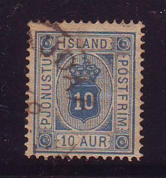 Iceland Sc O6 1876 10 a Official stamp used