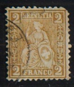 Helvetia, 1867-1881, YT #42, (1829-Т)