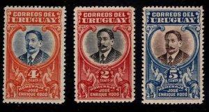 Uruguay Scott 235-237 MNH** stamps