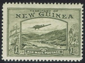 NEW GUINEA 1939 BULOLO AIRMAIL 1 POUND