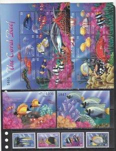 Micronesia 2000 marine life fish set+2s/s+2klb MNH