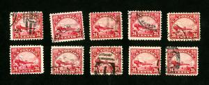 US Stamps # C6 VF Used Lot of 10 Scott Value $275.00