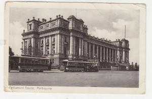 VICTORIA, c1905 ppc. Parliament House, Trams, ABBOSTFORD 1622, to USA, Taxed