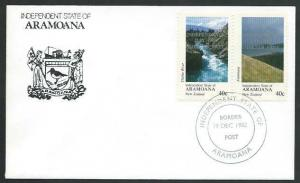 NEW ZEALAND 1982 ARAMOANA cinderella set optd SMELTER FREE on cover........11318