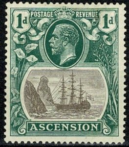 ASCENSION 1924-33 KG V 1d GREY-BLACK & DEEP BLUE-GREEN MNH Wmk. MSCA VGC