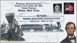 2015, President Lincoln Funeral Train Route, Pictorial, Derby NY, 15-361