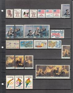 89 DIFFERENT US MNH 13 CENT STAMPS FROM 1287/C83 2019 SCV $31.20