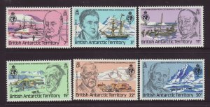 1980 Br Antarctic Terr Royal Geo Society Set Unmounted Mint SG93/98