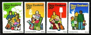 New Zealand SC#726-729 Family (1981) MNH