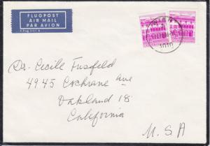 Austria Sc 694 on 1966 Mourning Cover to Oakland, CA
