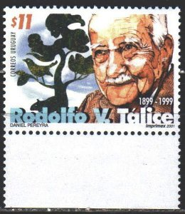 Uruguay. 2001. 2594. Talice, biologist and physician. MNH.